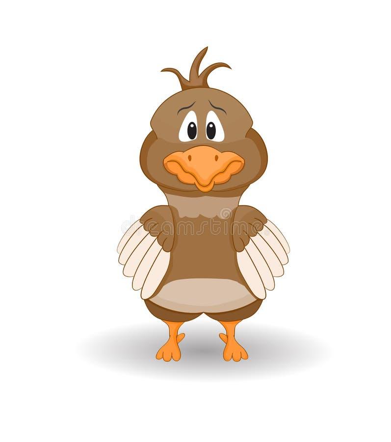 Karikatur erschrockenes Huhn stock abbildung