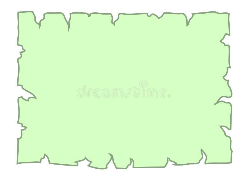 Karikatur-Fahnenpapiergrün des Pergaments altes leeres lizenzfreie abbildung
