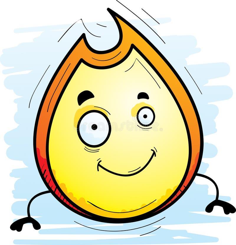 Karikatur-Flammen-Lächeln lizenzfreie abbildung
