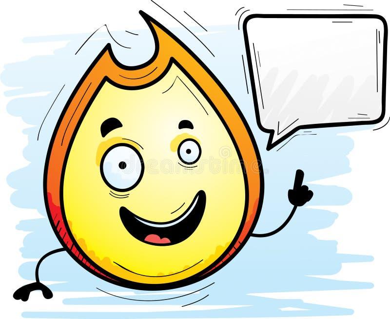 Karikatur-Flammen-Unterhaltung stock abbildung