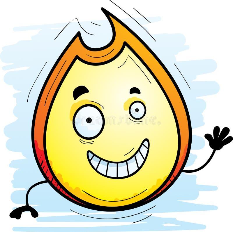 Karikatur-Flammen-Wellenartig bewegen stock abbildung