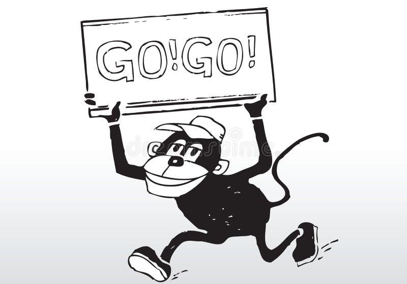 Karikatur gehen gehen Zeichen lizenzfreie abbildung