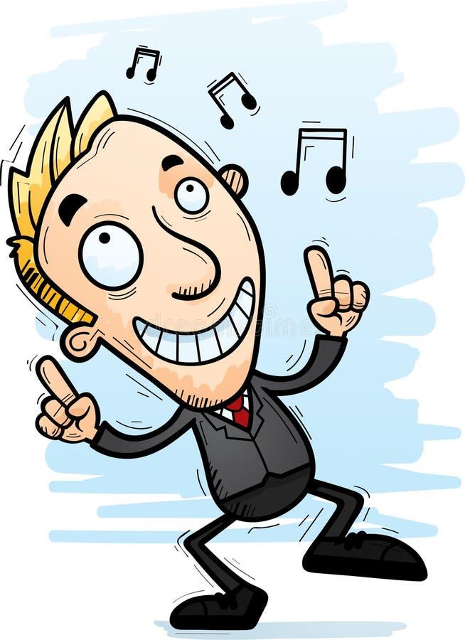 Karikatur-Geschäftsmann Dancing vektor abbildung