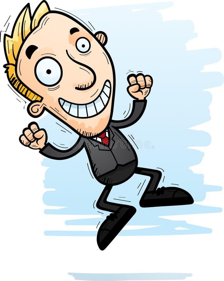 Karikatur-Geschäftsmann Jumping vektor abbildung