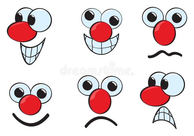 Karikatur-Gesichter stock abbildung