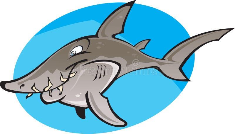 Karikatur-grauer Krankenschwester-Haifisch lizenzfreie abbildung