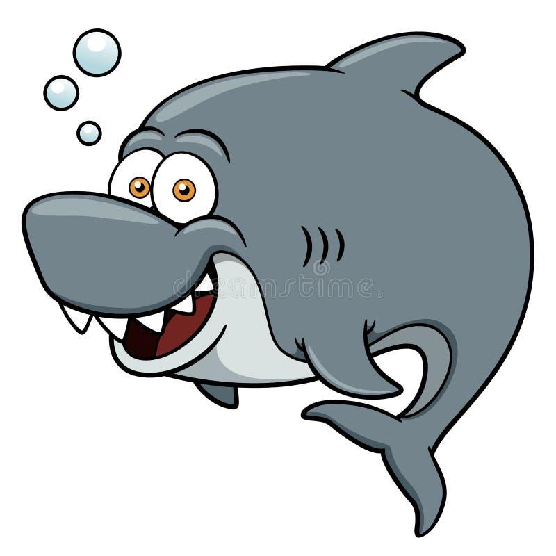 Karikatur-Haifisch stock abbildung