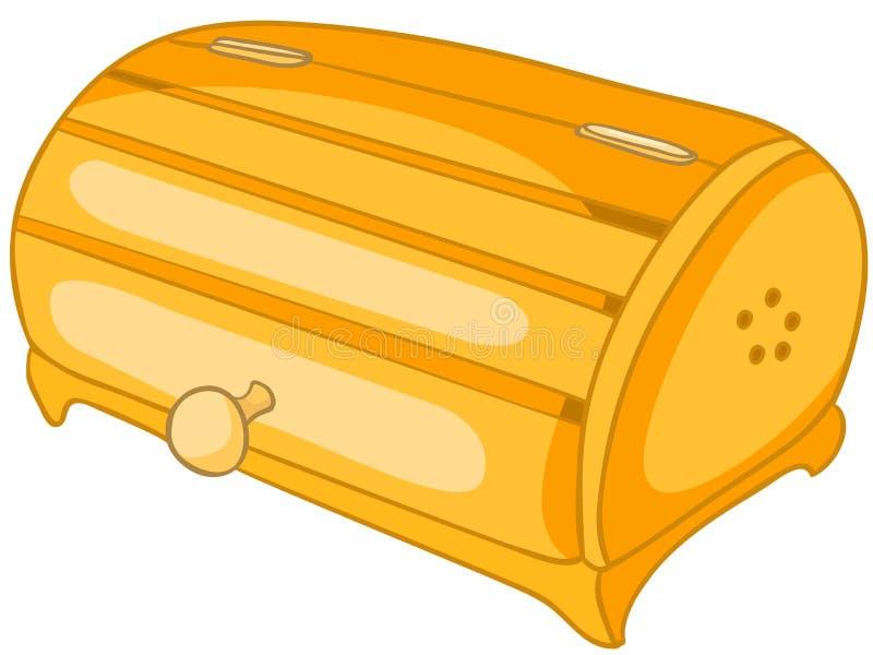 Karikatur-Hauptküche-Brot-Stauraum stock abbildung