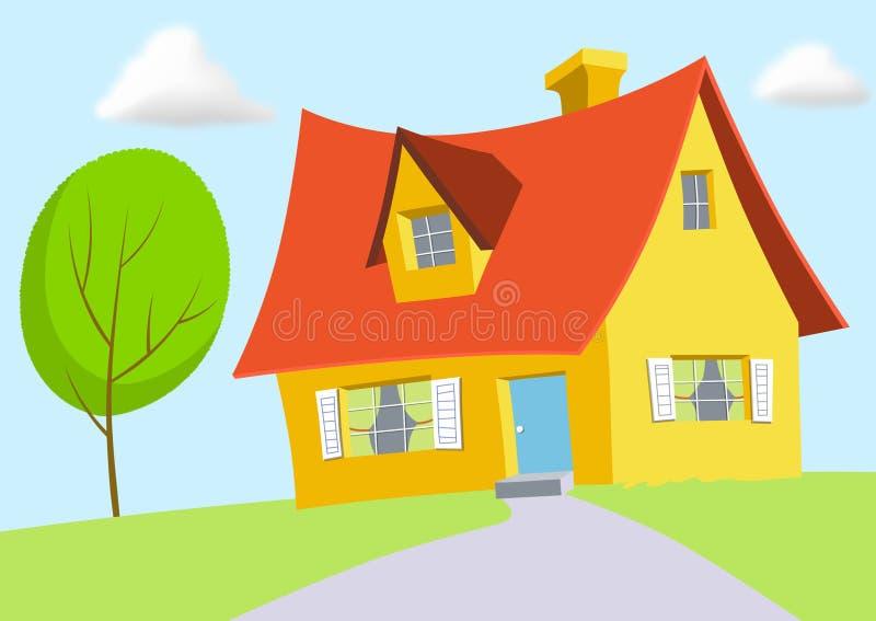 Karikatur-Haus vektor abbildung