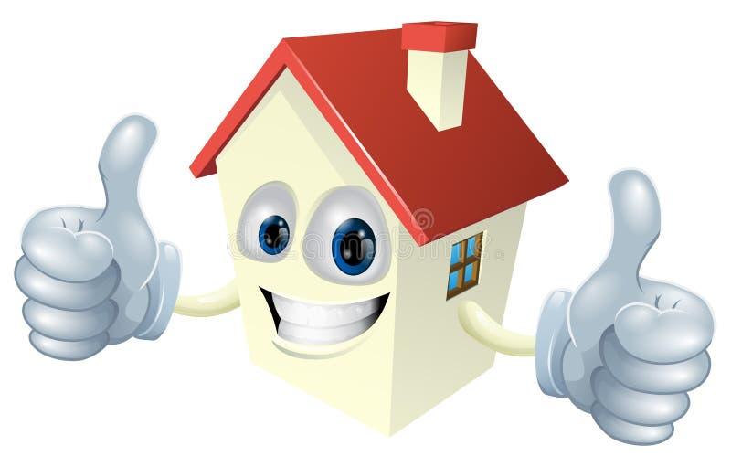 Karikatur-Haus-Maskottchen vektor abbildung