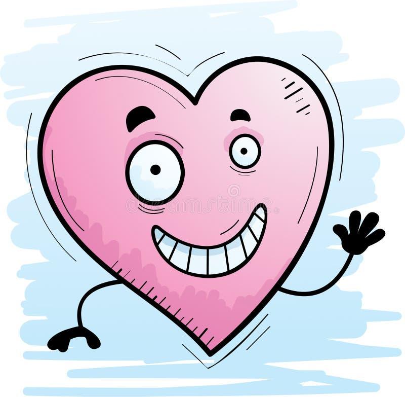 Karikatur-Herz-Wellenartig bewegen stock abbildung