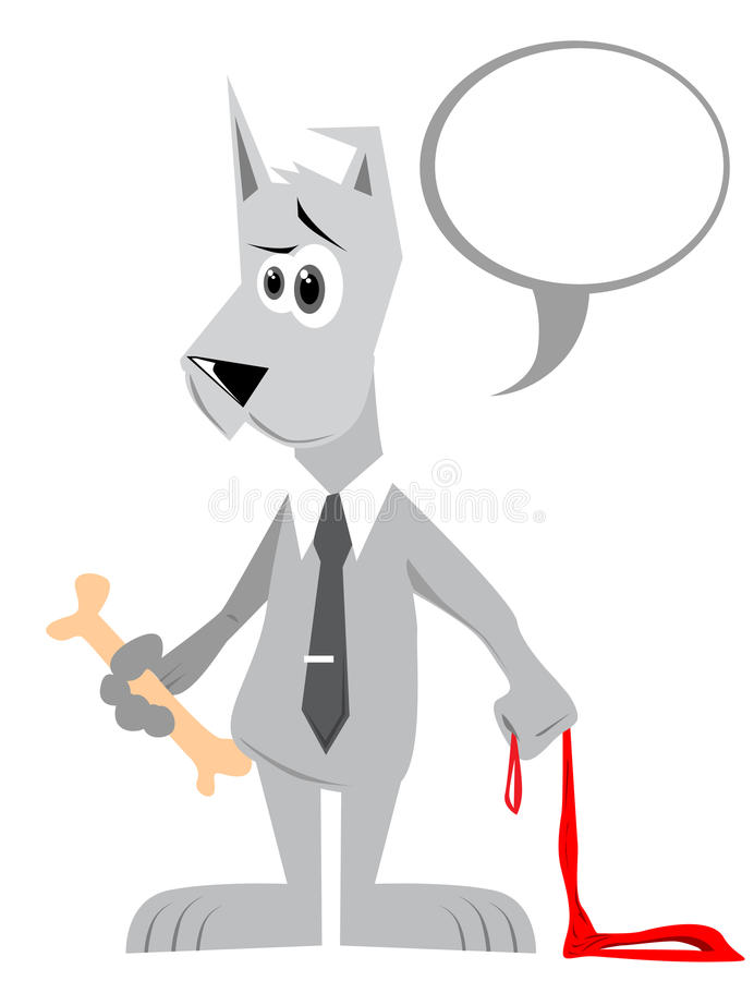 Karikatur-Hund lizenzfreies stockbild