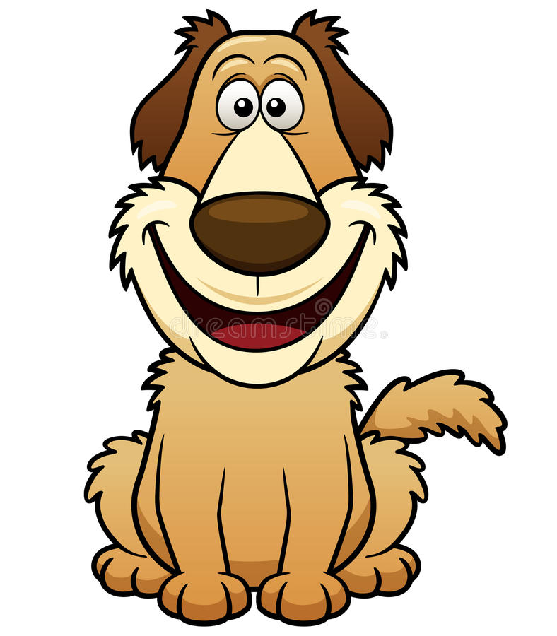 Karikatur-Hund stock abbildung