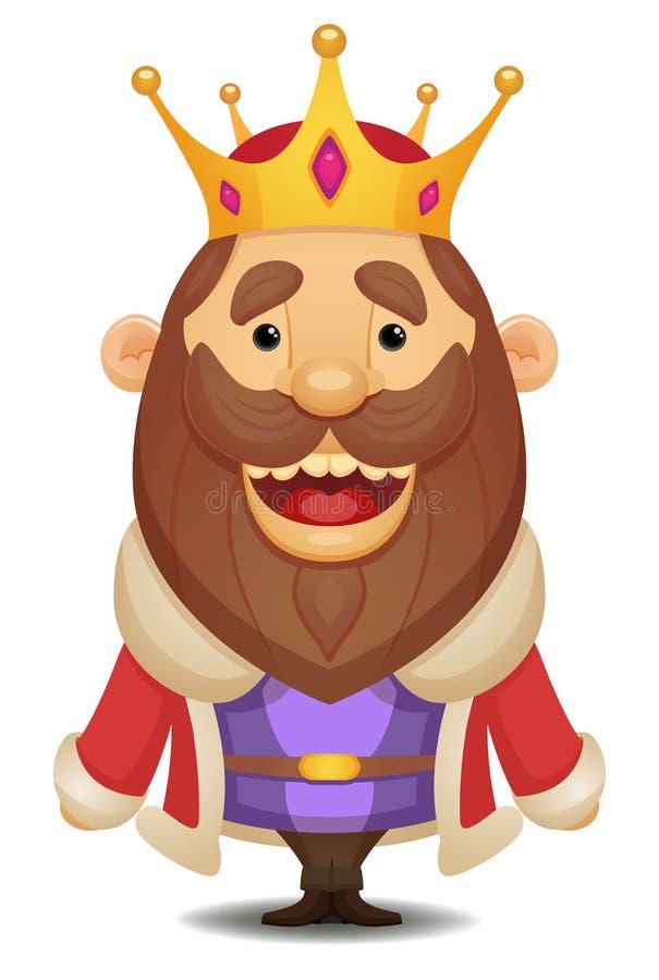 Karikatur-König lizenzfreie abbildung
