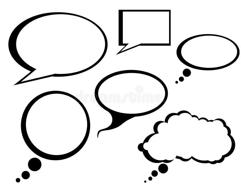 Karikatur-komisches Gespräch sprudelt Klipp-Kunst stock abbildung