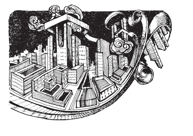 Karikatur kritzelt Hausskizzenhintergrund, Hand gezeichnete Art lizenzfreie abbildung