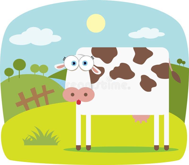 Karikatur-Kuh lizenzfreie abbildung