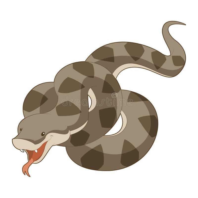 Karikatur-lächelnde Viper vektor abbildung
