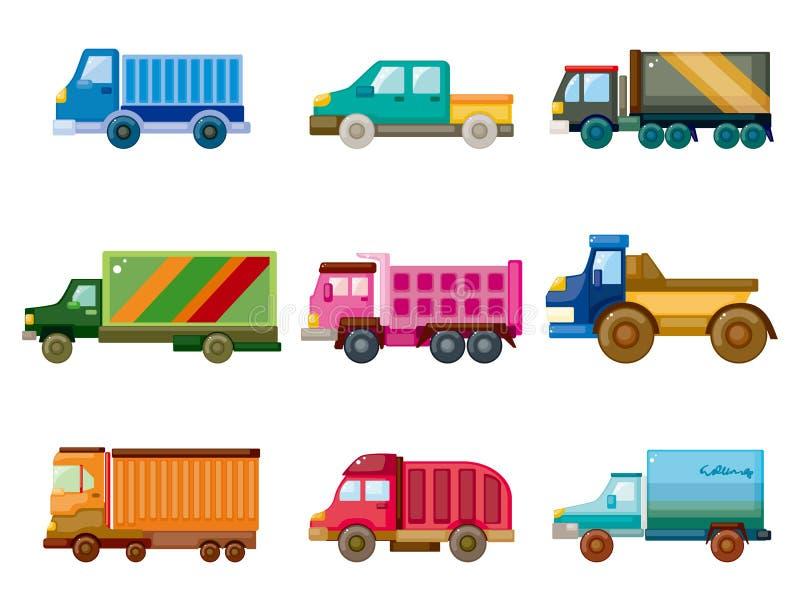 Karikatur-LKW-Ikone stock abbildung