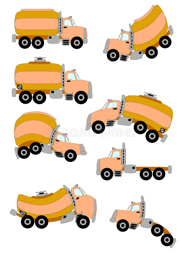Karikatur-LKWas stock abbildung