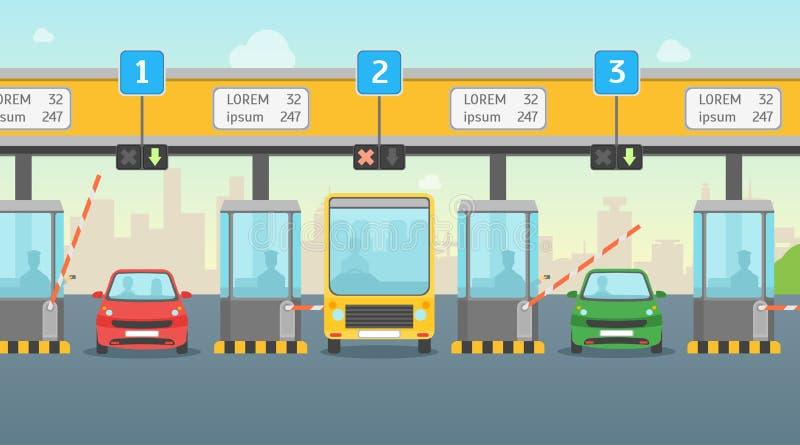 Karikatur-Lohn-Straßengebühr-Karten-Plakat Vektor vektor abbildung