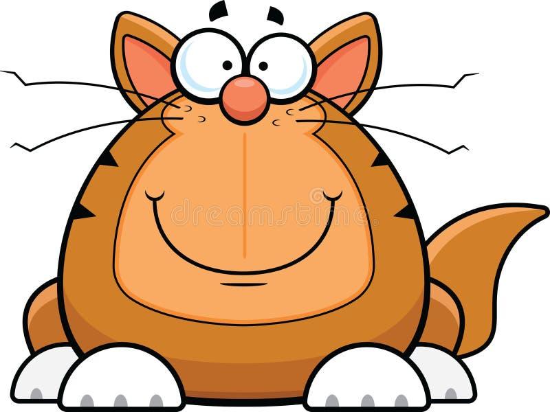 Karikatur lustige Cat Happy stock abbildung