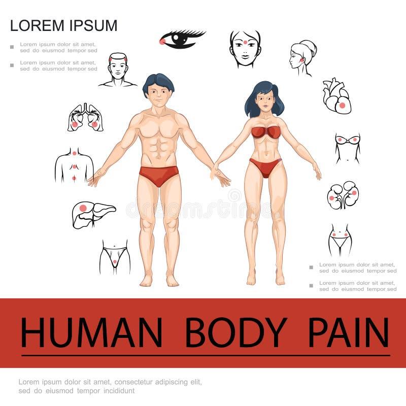 Karikatur-medizinisches Konzept lizenzfreie abbildung