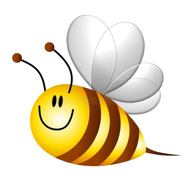 Karikatur mogeln Bienen-Flugwesen durch lizenzfreie abbildung