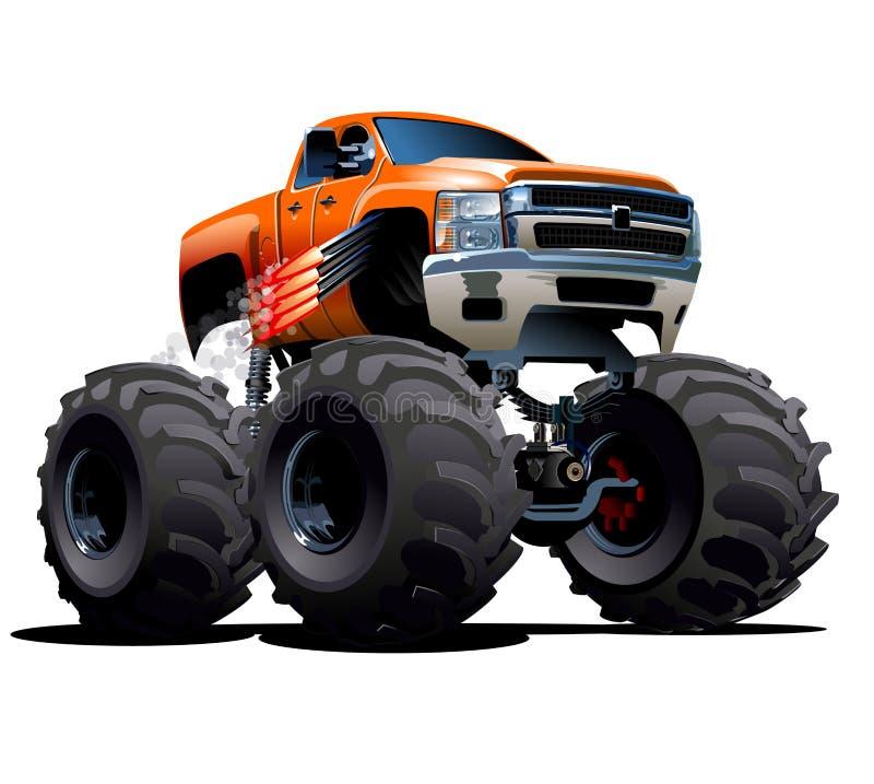 Karikatur-Monstertruck stock abbildung