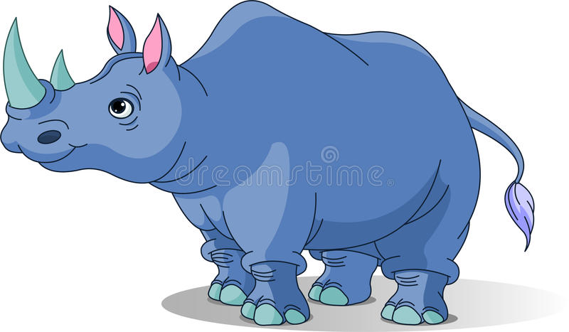 Karikatur-Nashorn stock abbildung