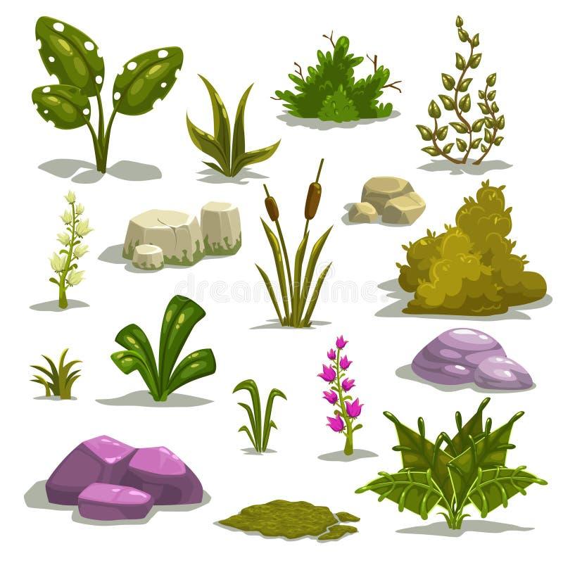 Karikatur-Natur-Elemente stock abbildung