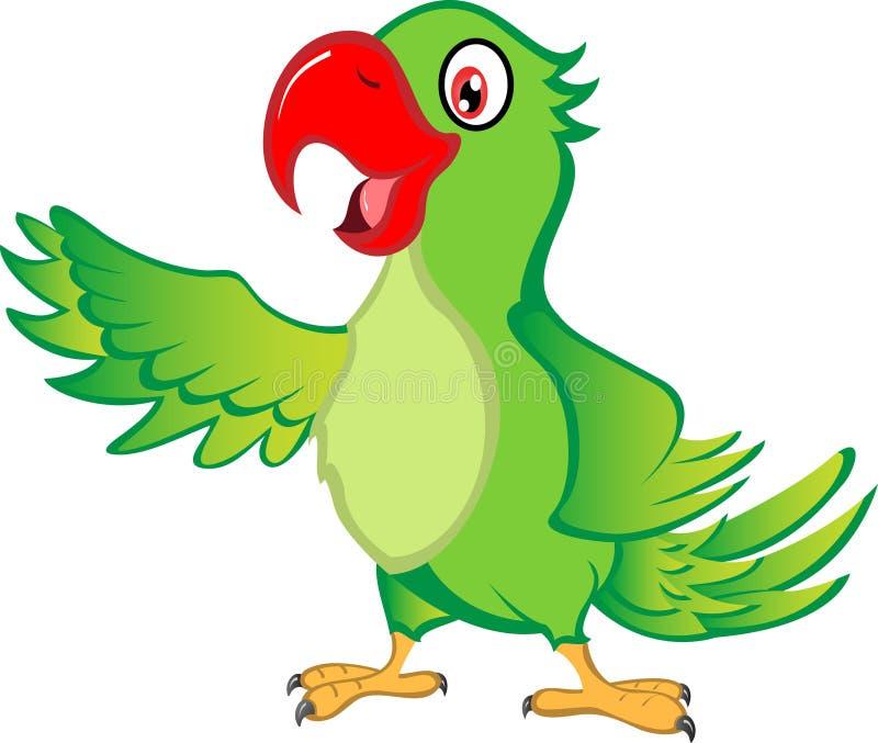 Karikatur-Papagei lizenzfreie abbildung
