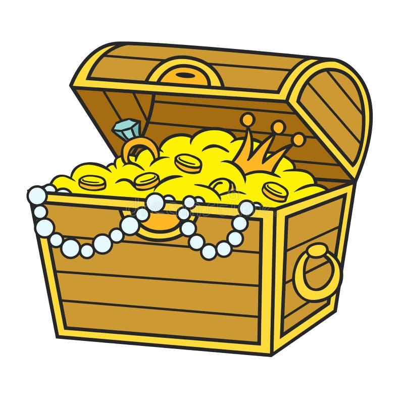 karikatur piraten schatz vektor abbildung illustration Treasure Chest Drawing open treasure chest clipart free
