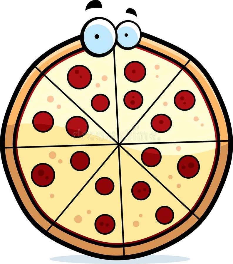 Karikatur-Pizza-Torte lizenzfreie abbildung