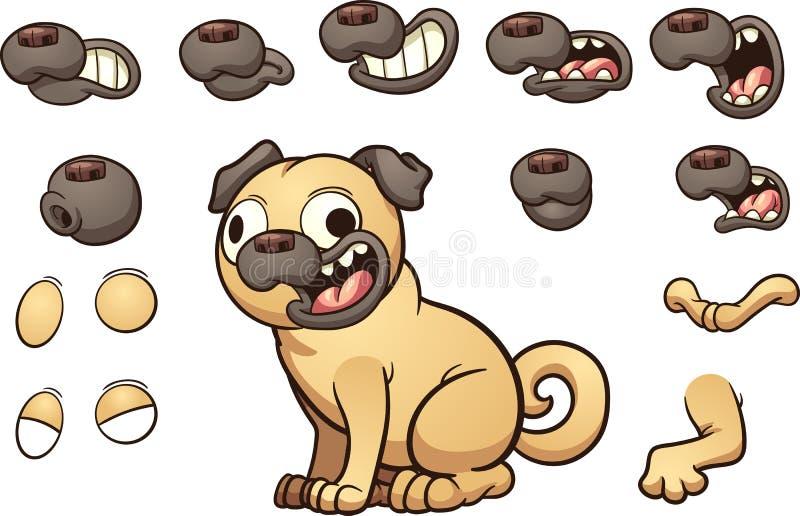 Karikatur Pug vektor abbildung