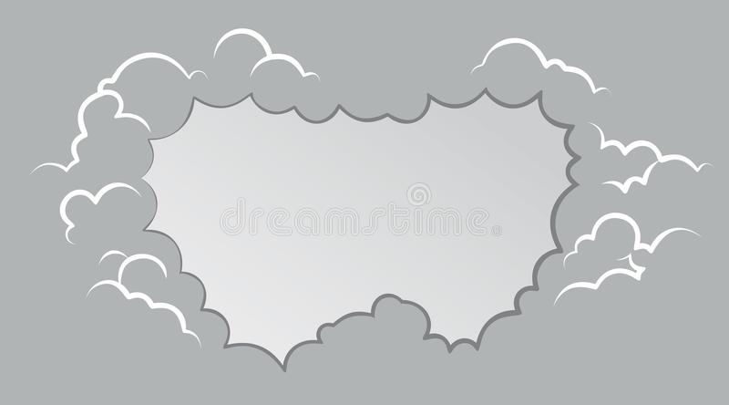 Karikatur-Rauchrahmen Hintergrund bewölkt Explosion stock abbildung