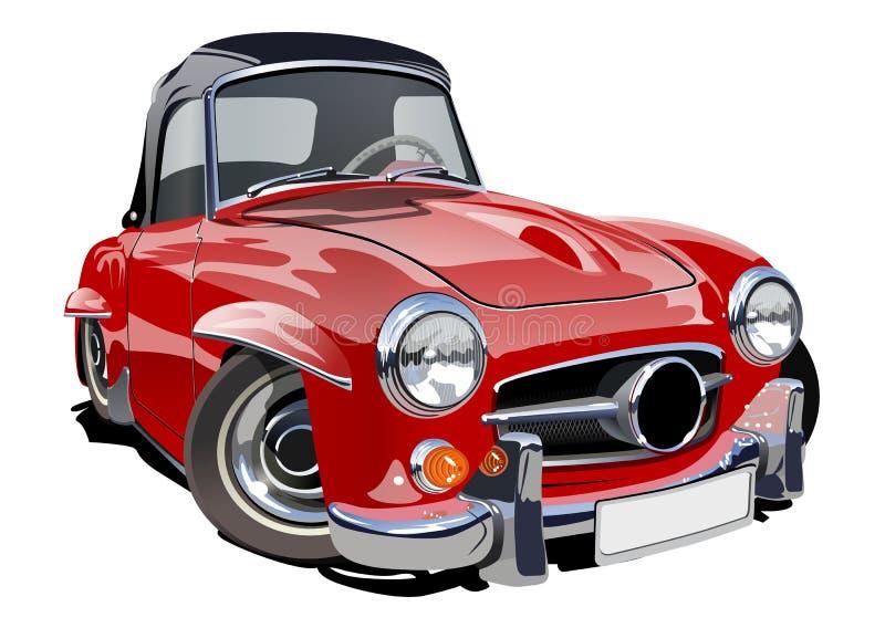 Karikatur-Retro- Auto stock abbildung