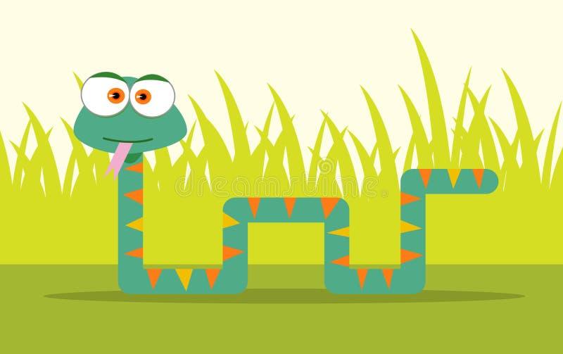 Karikatur-Schlange vektor abbildung
