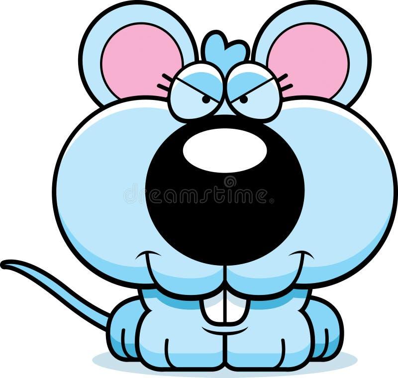 Karikatur-schlaue Baby-Maus stock abbildung
