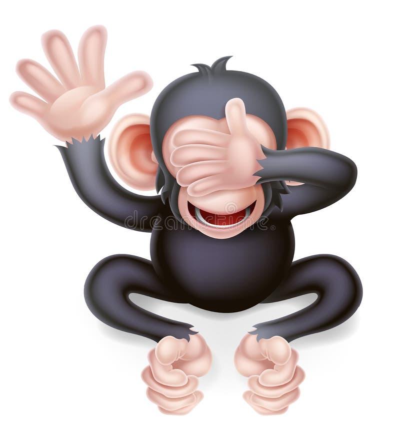 Karikatur sehen keinen schlechten Affen lizenzfreie abbildung