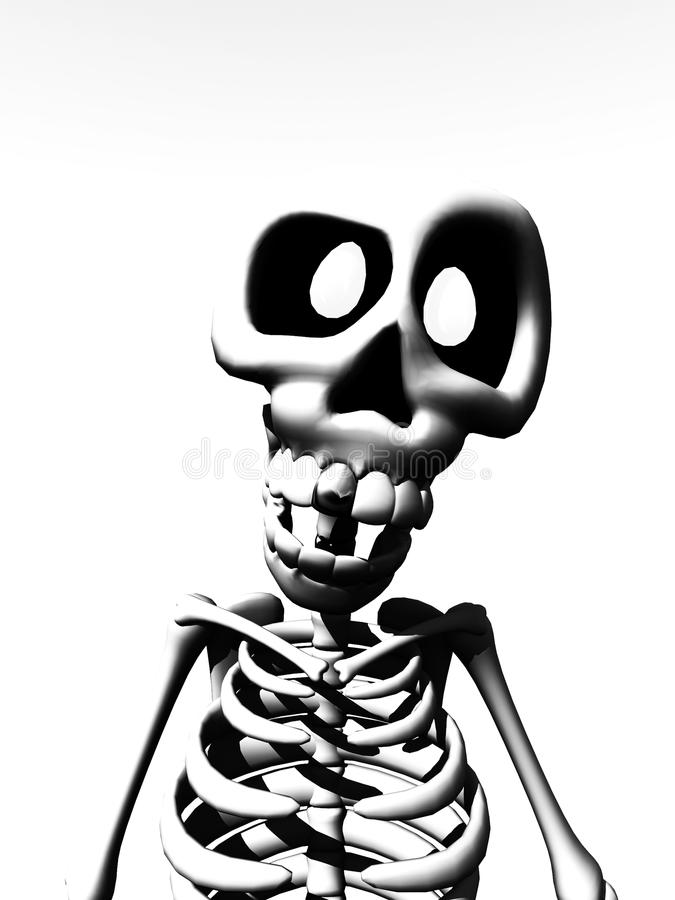 Karikatur-Skelett stock abbildung