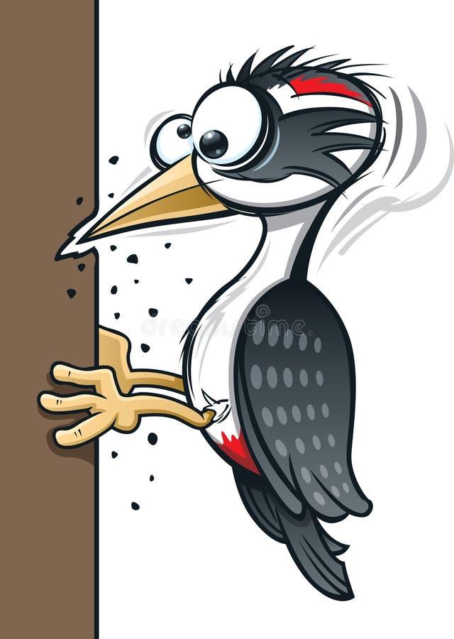 Karikatur-Specht lizenzfreie stockfotos