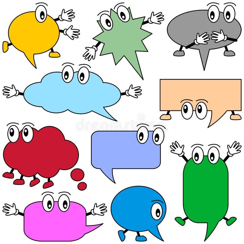 Karikatur-Sprache-Luftblasen vektor abbildung