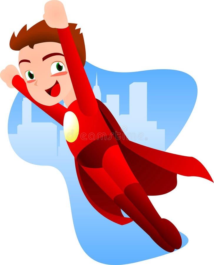 Karikatur Superboy-Fliegen lizenzfreie abbildung