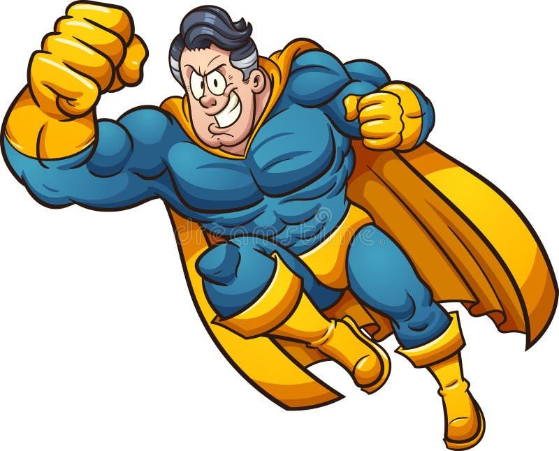 Karikatur-Superheld lizenzfreie abbildung