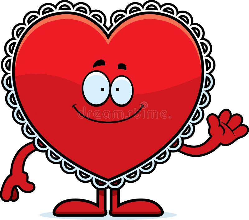 Karikatur Valentine Waving lizenzfreie abbildung