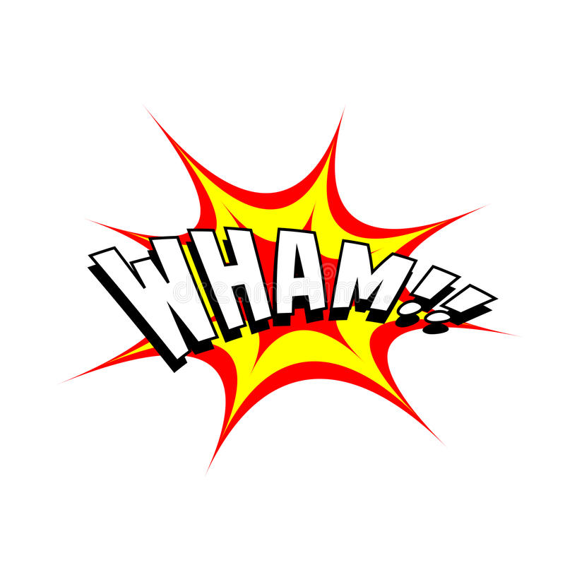 Karikatur-Vektor Wham stock abbildung