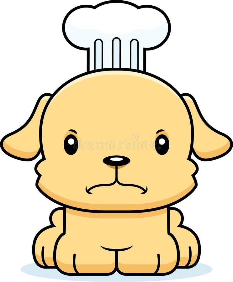 Karikatur-verärgerter Chef Puppy stock abbildung