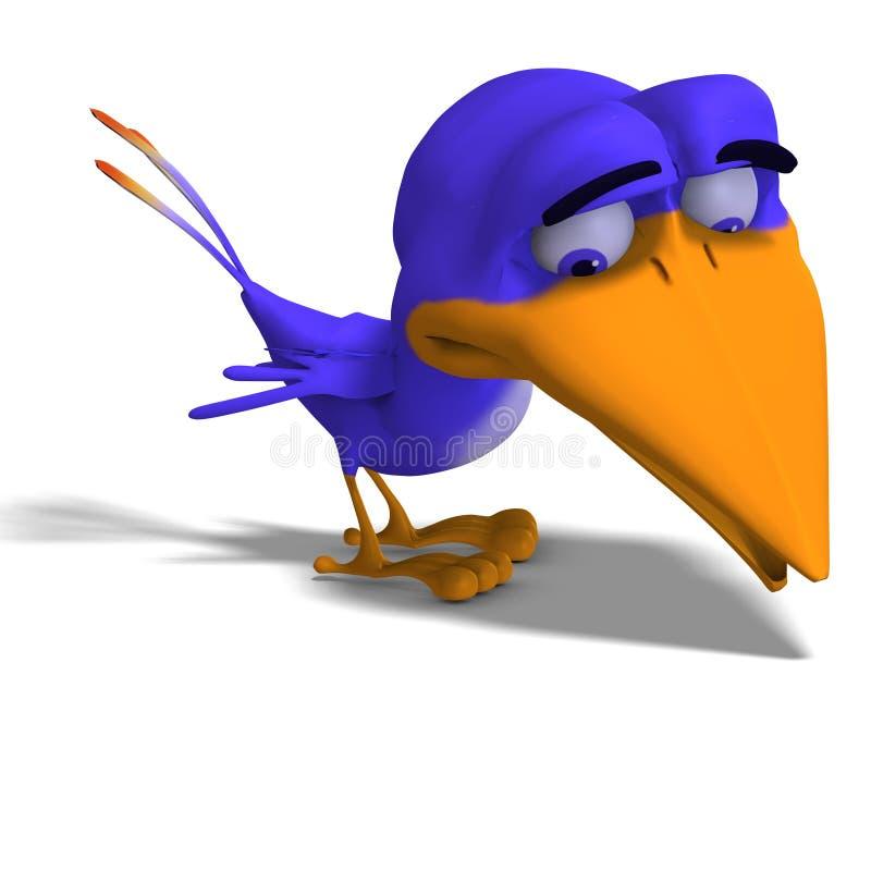 Karikatur-VogelTwitter vektor abbildung