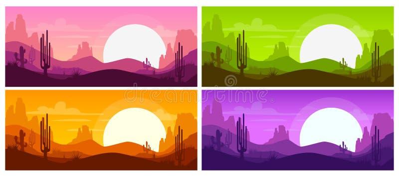 Karikatur-Wüstenlandschaft lizenzfreie abbildung